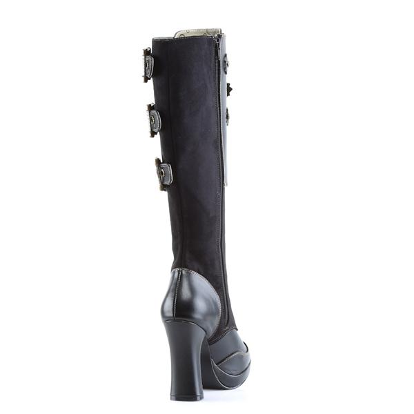 Nero 10 cm CRYPTO 302 stivali steampunk donna
