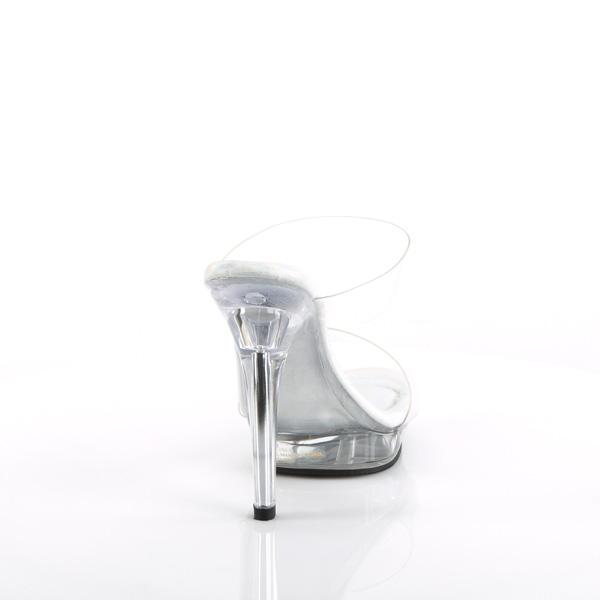 3//4 Inch Platform Two Band Slide Fabulicious LIP-102-1 5 Inch Heel