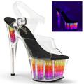 ADORE-708SRS Fetisch Glitter & paljetter Pride Sandalett UV-reaktiva