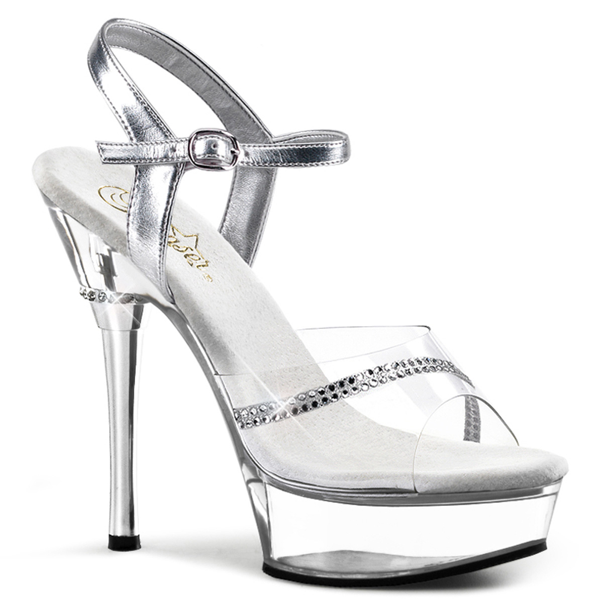 2f6ba7b706c2 ... Stiletto Heel Platform Ankle Strap Women Sandal 8 Clr clr. About this  product. Picture 1 of 2  Picture 2 of 2