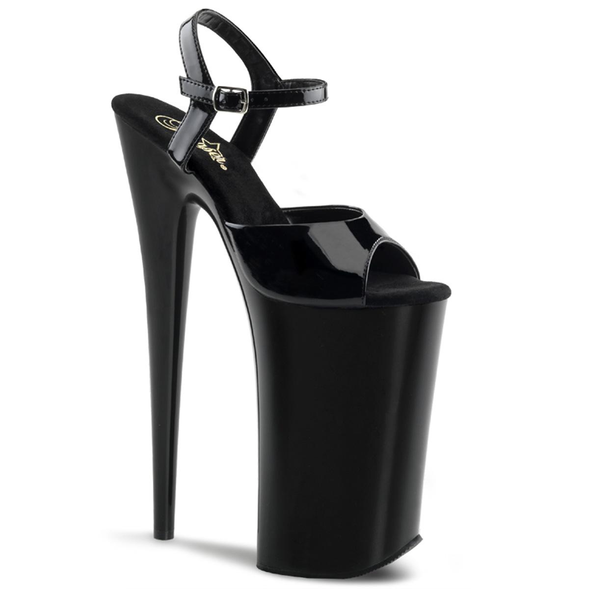 Pleaser Beyond-009 10 Inch Heel 6 1/4 Inch Platform Ankle Strap ...