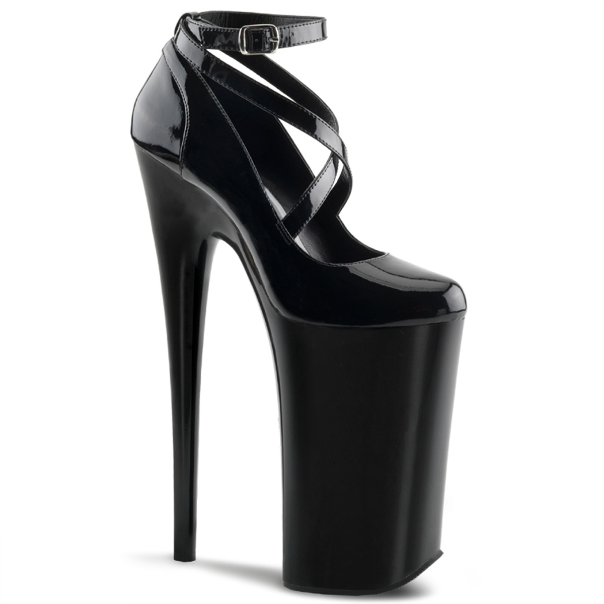 Pleaser Beyond Criss Cross Black 10