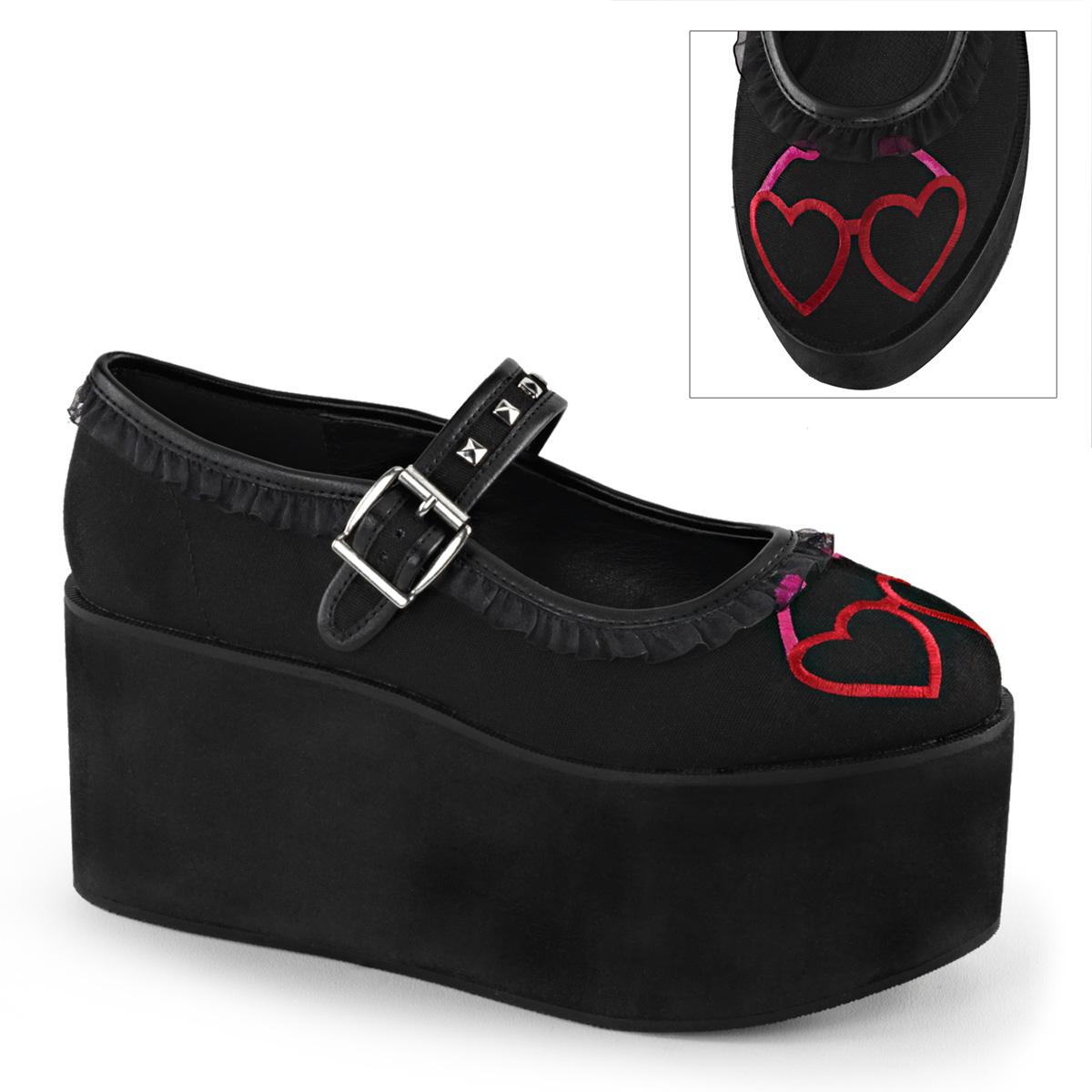 Demonia clic 02-1 3 1/4 PF Gótico Punk Zapatos de de Zapatos plataforma alternativa 9b0504