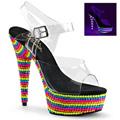 DELIGHT-608RBS Pride Sandalett UV-reaktiva