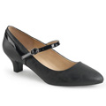 FAB-425 Bred klack Klassisk elegans Mary Jane Pumps Vegan