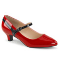 FAB-425 Bred klack Jul & högtider Klassisk elegans Mary Jane Pumps Vegan