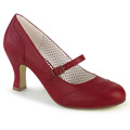 FLAPPER-32 Bred klack Gatsby Klassisk elegans Mary Jane Pumps Retro & vintage Vegan