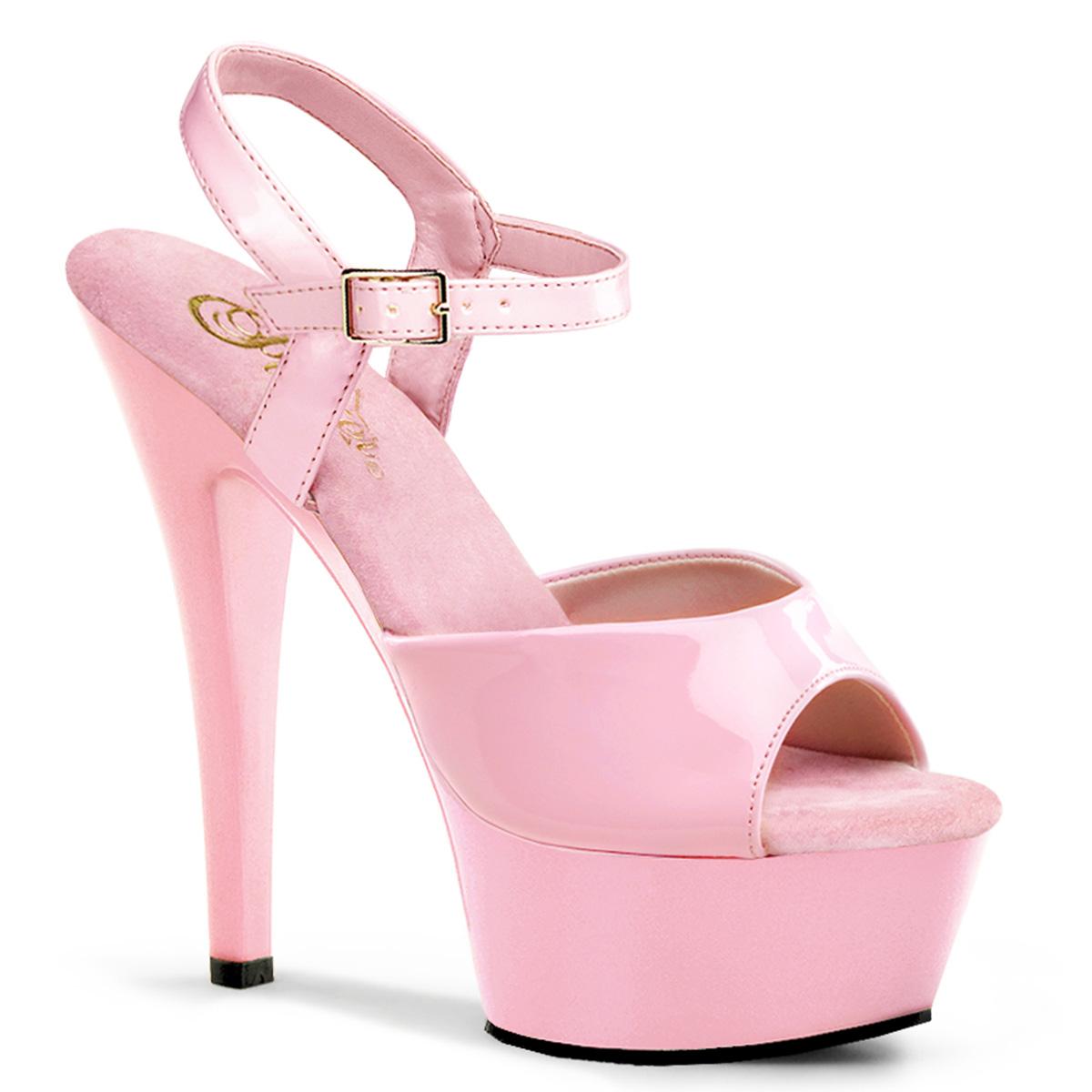 Pleaser Kiss-209 Women s 6 Inch Spike Heel Platform Sandal 5 Baby ...