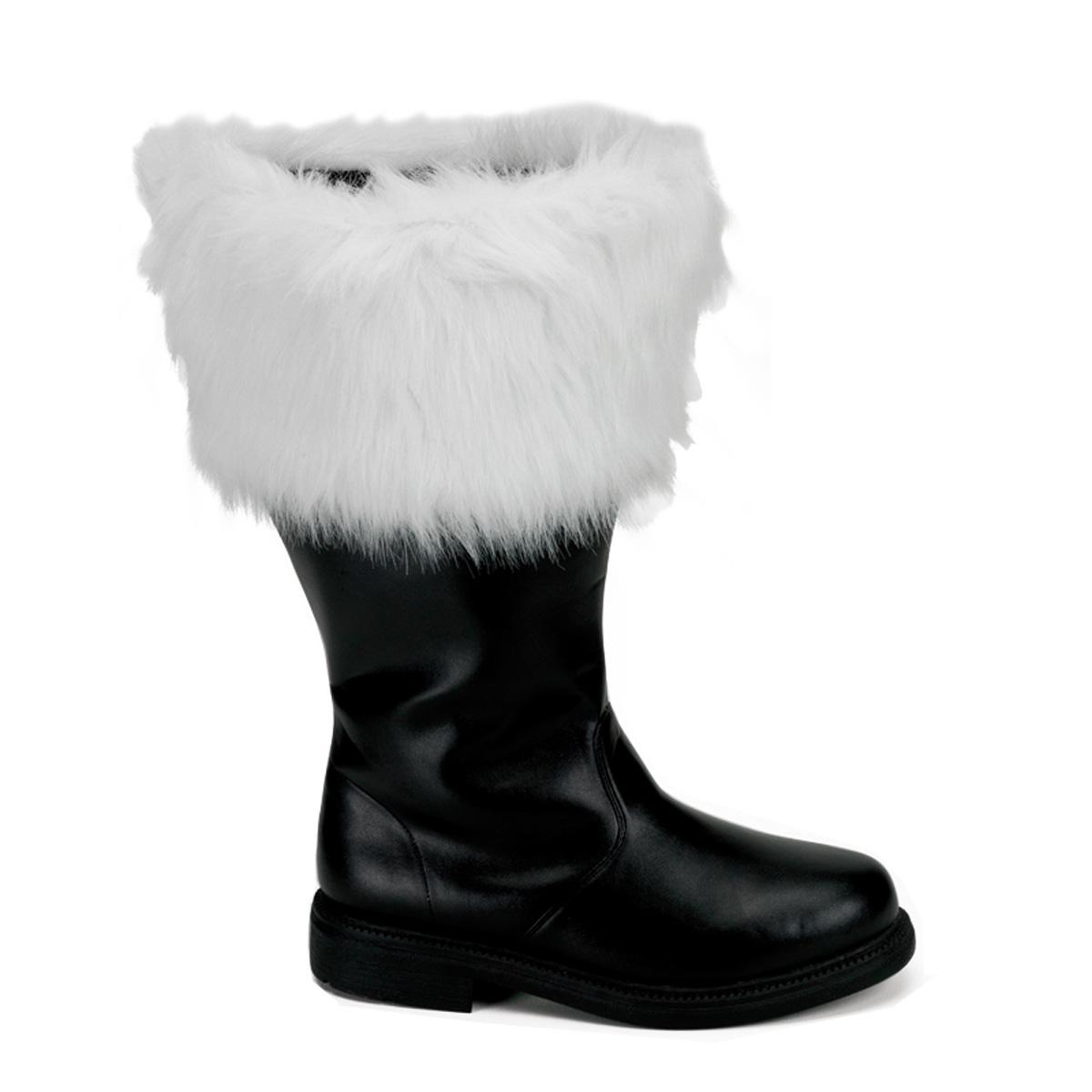 FUNTASMA Santa-106WC Halloween Blk Pu-Wht Faux Fur Costume Cosplay Halloween Santa-106WC Stivali 702f39