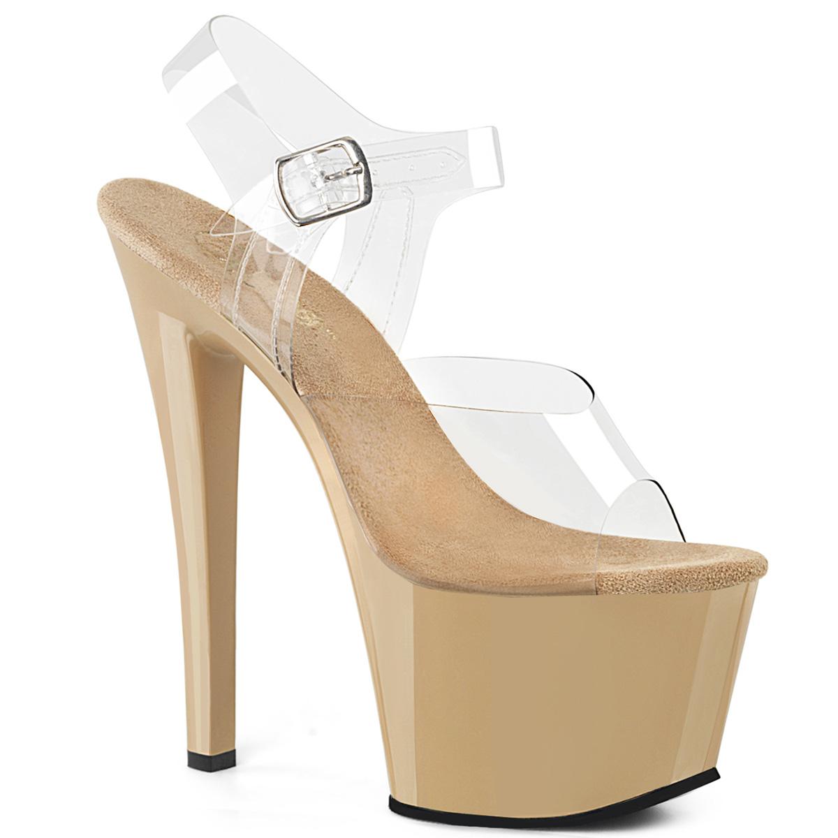 PLEASER Sky-308 Series 7  Heel Heel Heel Sexy Exotic Ankle-Strap Sandal 9b7cc6
