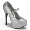 TEEZE-07H Burlesk Glitter & paljetter Mary Jane Vegan